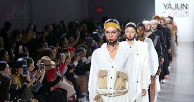 الألوان المحايدة تسيطر على أزياء YAJUN لربيع وصيف 2019 فى أسبوع الموضة بنيويورك.. صور
