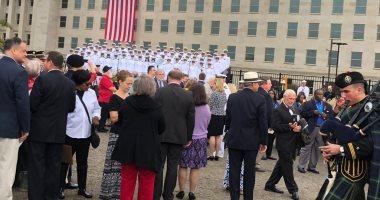 نائب الرئيس الأمريكى ووزير الدفاع يصلان نصب البنتاجون لإحياء ذكرى 11 سبتمبر