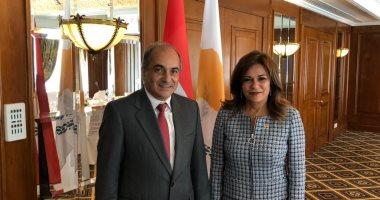"""صور.. رئيسة """"سياحة البرلمان"""" تستعرض ملفات التعاون مع كبار المسئولين بقبرص"""