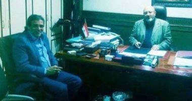 خالد يوسف يلتقى رئيس الجهاز التنفيذى لمياه الشرب لبحث مشروعات دائرته
