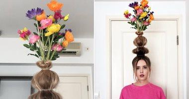 فيديو تاج الورد اتحول لـفازة هل يمكنك تجربة تريند الشعر الجديد؟