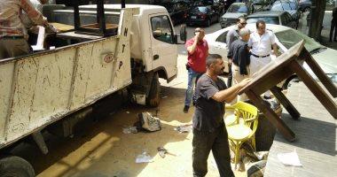 صور. . أمن الجيزة يشن حملة لإزالة الإشغالات وضبط الخارجين عن القانون