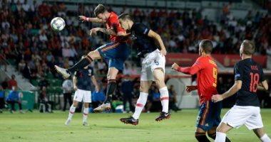دورى الأمم الأوروبية.. إسبانيا تكتسح كرواتيا بثلاثية فى الشوط الأول