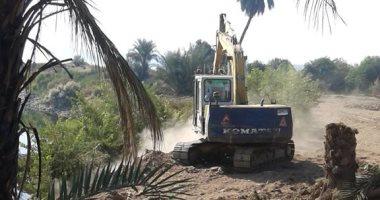 """""""حماية النيل"""" بالأقصر تنفذ 4 قرارات إزالة وردم لحالات تعدى على مجرى النهر"""