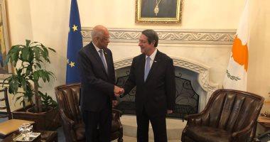 صور.. على عبد العال ينقل لرئيس قبرص رفض مصر الانتهاكات التركية