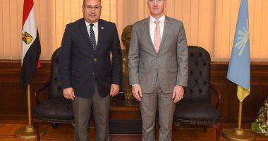 قنصل لبنان يبحث التبادل التجارى والاستثمارات مع محافظ الإسكندرية