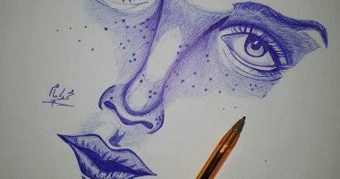 محمد إمام يشارك اليوم السابع بلوحاتة الفنية