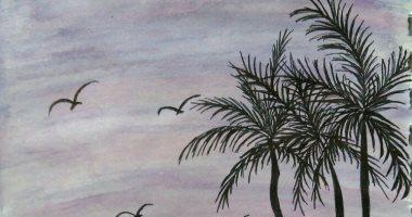قارئة من القاهرة تتالق بالرسم وتشارك اليوم السابع بلوحاتها
