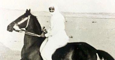 شاهد الملك سلمان يمارس رياضة ركوب الخيل فى شبابه