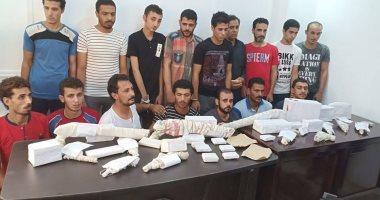 أمن الشرقية يضبط 33 عنصرا إجراميا بحوزتهم مخدرات بقرية الغابة أبو كبير