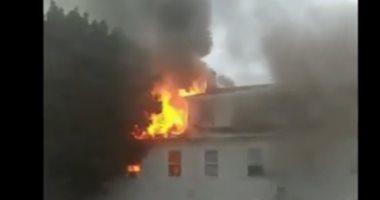شاهد.. انفجار 39 منزلا فى الولايات المتحدة بسبب تسريب الغاز