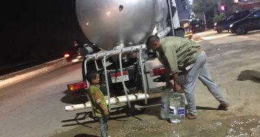 مياه الجيزة عن شكوى أهالى كفر طهرمس: ندفع بسيارات يوميا لحين انتهاء التوسعة