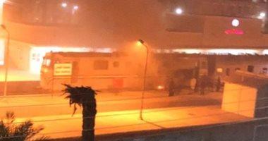 ماس كهربائى سبب حريق محدود بجرار قطار القاهرة - أسوان