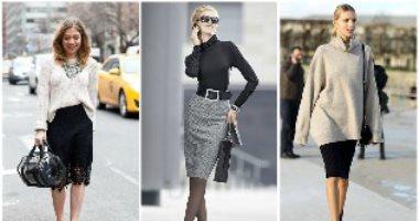 """هتبين رشاقتك صح.. اعرفى إزاى تلبسى الـ""""pencil Skirt"""" بأكثر من طريقة فى الخريف"""