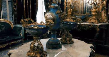 فيديو الأوبيسون الفرنسى يكسو جدران جناح الجد بقصر المنيل