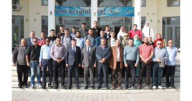 أوائل الثانوية الأزهرية يزورون الجامعة المصرية بكازاخستان