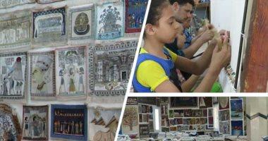 فيديو مدرسة الفن تفتح أبوابها لتعلم صناعة السجاد اليدوي