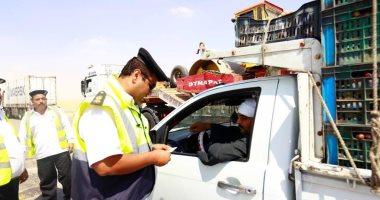 المرور يضبط 3406 مخالفات مرورية بمحاور  وميادين الجيزة خلال 24 ساعة -