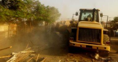 """""""أمن سوهاج"""" تزيل 55 حالة على أراضى الدولة"""