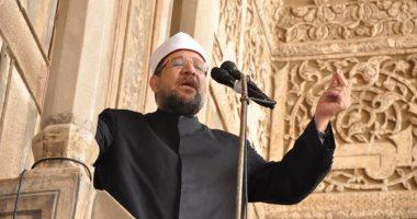 وزير الأوقاف يؤدي خطبة الجمعة بمسجد الخازندار