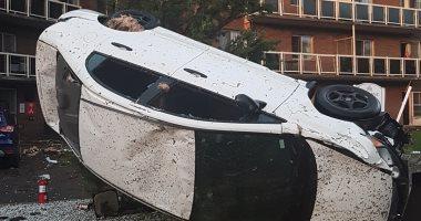 صور.. إعصار عنيف يضرب كندا ويتسبب بأضرار جسيمة