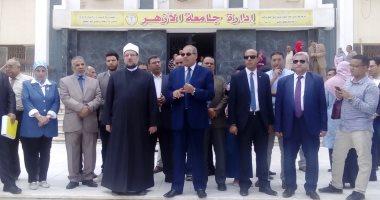 وزير الأوقاف يشارك بتحية العلم بجامعة الأزهر فى أول أيام الدراسة