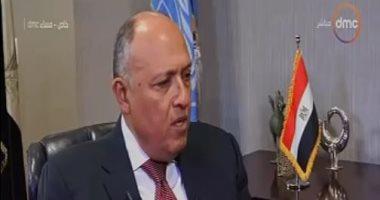فيديو.. وزير الخارجية: القضية الفلسطينية من أهم القضايا محل النقاش مع الولايات المتحدة