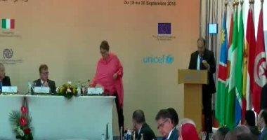 فيديو.. الأمم المتحدة تكرم النائب العام وتمنحه درع تذكارى
