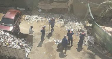 """استجابة لـ""""صحافة المواطن"""".. حملة لإزالة القمامة من منطقة السينما بمدينة نصر"""