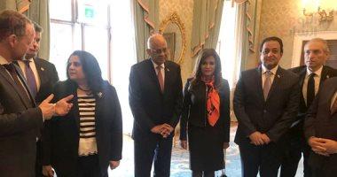 """صور.. وفد البرلمان المصرى برئاسة """"عبد العال"""" يلتقى رئيس جمهورية أيرلندا"""