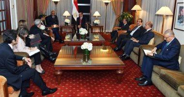 الرئيس السيسى يستقبل رئيس شركة بوينج