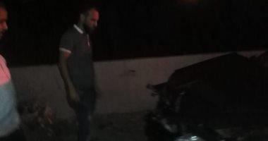 صور.. تصادم 9 سيارات بنزلة كوبرى الألمان فى الإسكندرية دون إصابات