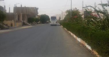 رصف وتجميل مداخل مدينة القرنة بالأقصر إستعداداً للموسم السياحى الشتوى