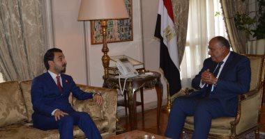 وزير الخارجية يؤكد لرئيس مجلس النواب العراقى دعم مصر لوحدة وسيادة العراق