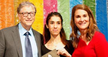 بيل جيتس يهنئ الفتاة الإيزيدية نادية مراد بعد منحها جائزة نوبل