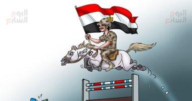 أسود الجيش المصرى يعبرون حاجز الهزيمة ويلاحقون جنود العدو فى ذكرى نصر أكتوبر