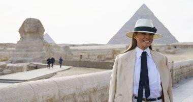 زيارة ميلانيا ترامب للأهرامات تتصدر الصحف العالمية