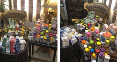 """"""" أمن الأسكندرية """" يضبط أدوية مهربة محظور تداولها بالأسواق"""