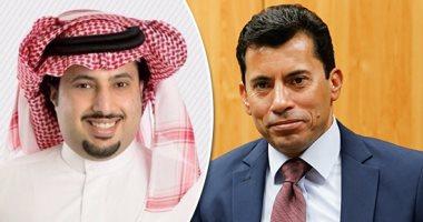 """أشرف صبحى يهنىْ رئيس الهيئة العامة للرياضة السعودية على نجاح """"السوبر"""""""