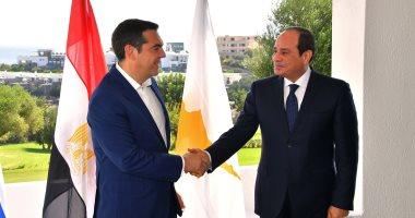 """السيسى يصل """"كريت"""" لحضور القمة الثلاثية بين مصر وقبرص واليونان"""