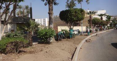 صور.. تعرف على آخر تطورات رفع كفاءة شارع خالد بن الوليد بالأقصر