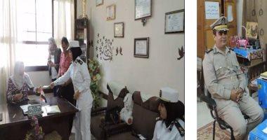 ضباط وأفراد مديريات الأمن يسددون مصروفات دارسية لطلبة غير قادرين