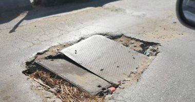 صور.. اضبط مخالفة.. طريق الباجور سنتريس مقبرة للسيارات والسائقين