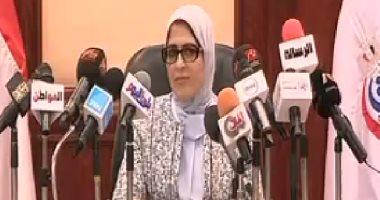 وزيرة الصحة: زودنا مناطق المشروعات القومية بفرق طبية لإجراء الكشف على العمال
