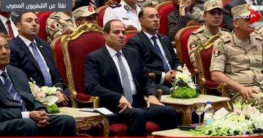 شاهد.. تأثر الرئيس السيسى بحديث أحد أبطال القوات المسلحة