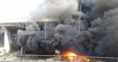مصدر أمنى: حريق مخزن حى الهرم لم يسفر عن مصابين وماس كهربى وراء النيران