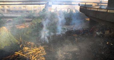 فيديو وصور.. الحماية المدنية تسيطر على حريق مخزن حى الهرم بدون إصابات