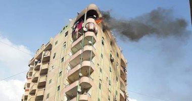 ماس كهربائى تسبب فى نشوب حريق بفيصل دون إصابات بالجيزة