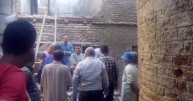 إنهيار أجزاء من منزل بمدينة عزبة البرج بدمياط