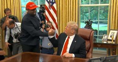 فيديو.. استقبال ترامب لمغنى الراب كانى ويست فى البيت الأبيض